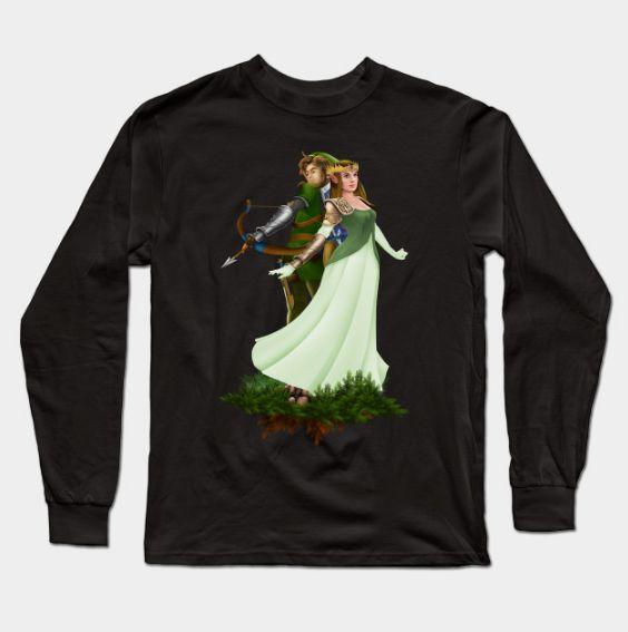 Link & Zelda Long Sleeve Sweatshirt GN24MA1