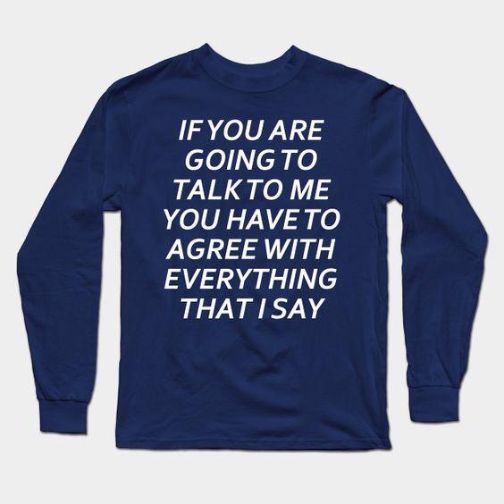 Talk Long Sleeve Sweatshirt PU12MA1