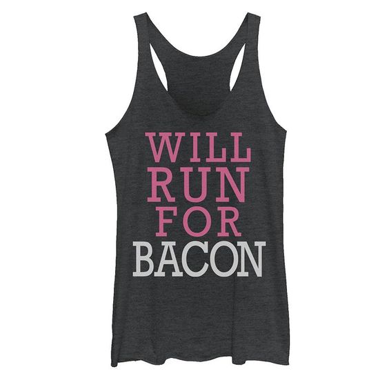 Will Run For Bacon Tank Top GN24MA1