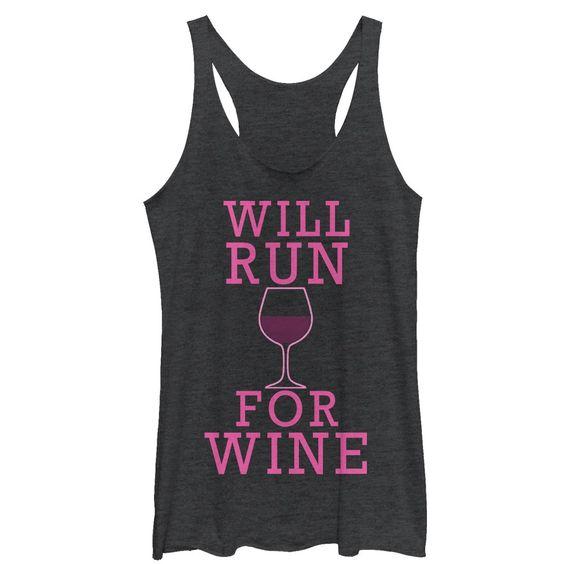 Will Run For Wine Tank Top EL17MA1