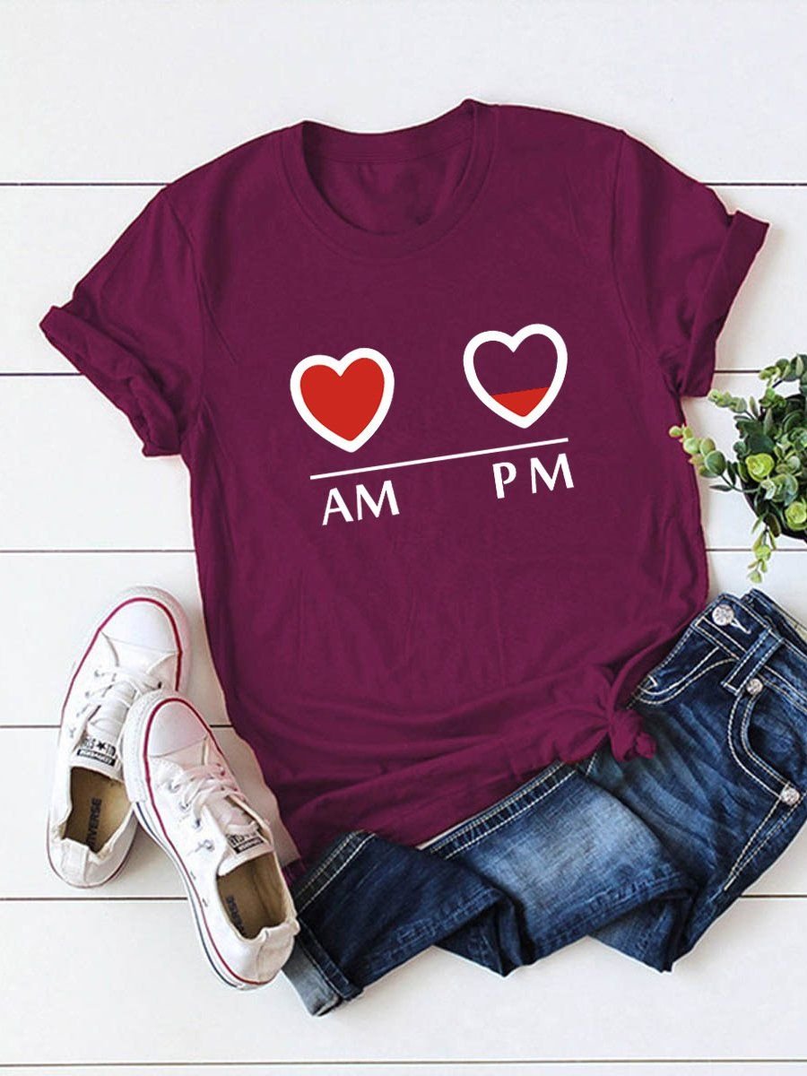 Am And Pm Charging T-Shirt EL20A1