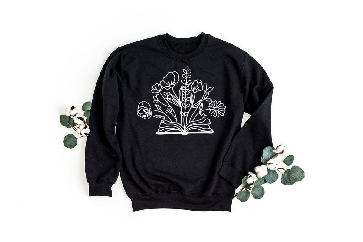 Book Flower Sweatshirt EL20A1