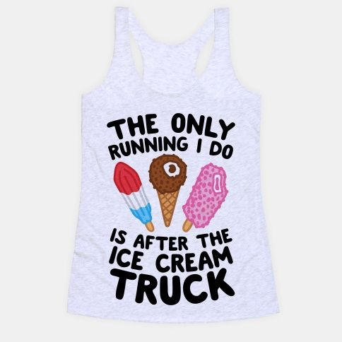 The Only Running I Do Tank Top EL27A1