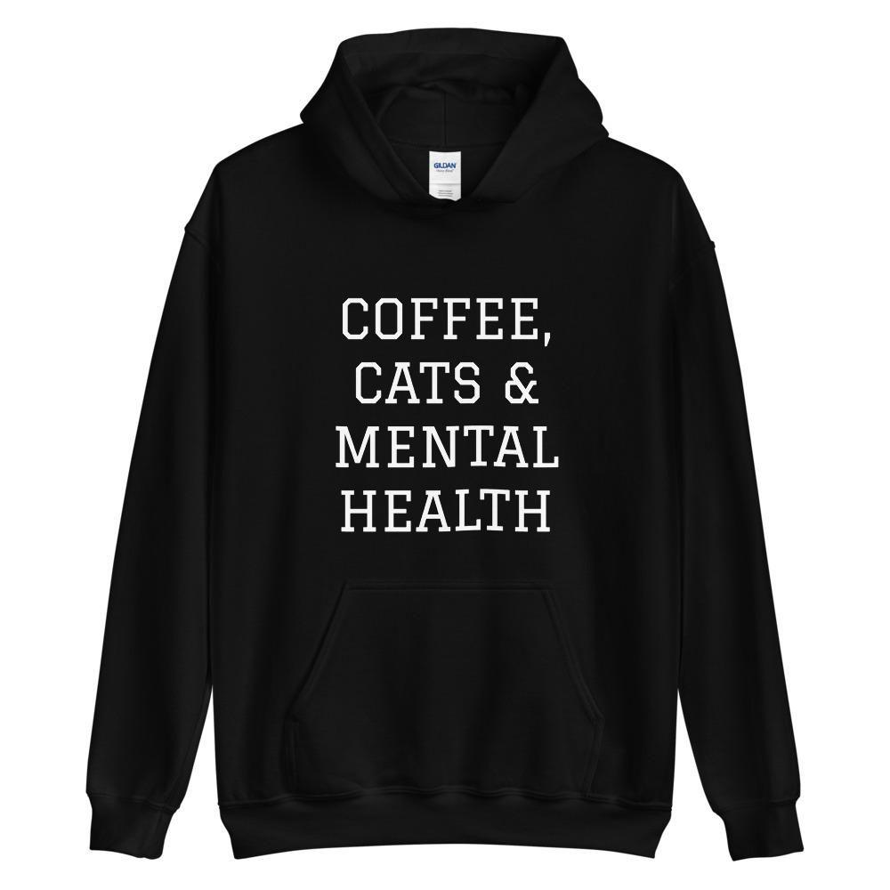 Coffee Cats & Mental Health Hoodie AL6M1