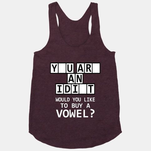 Would You Like to Buy a Vowel Tanktop AL6M1
